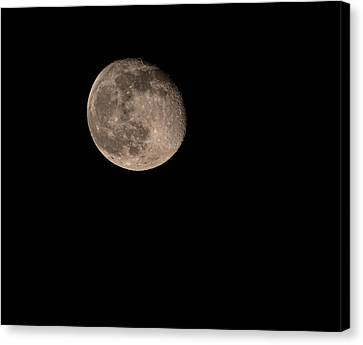 Canvas Print featuring the photograph Moon 4-13-2017 by Thomas Young