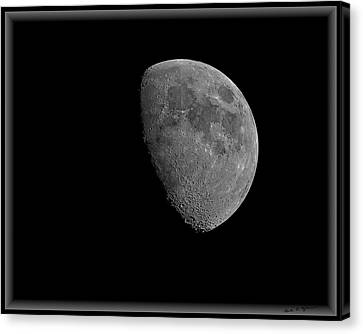 Canvas Print featuring the photograph Moon 67 Percent Fr23 by Mark Myhaver