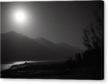 Moon Above Pyandzh Valley Canvas Print