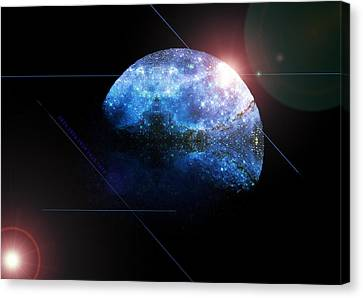 Moon All Lit Up Canvas Print