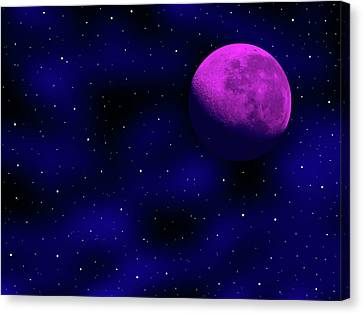 Canvas Print featuring the photograph Moon And Stars by Mark Blauhoefer