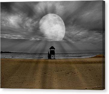 Moon Beams Canvas Print by Ms Judi