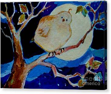 Canvas Print featuring the painting Moon Bird by Diane Ursin