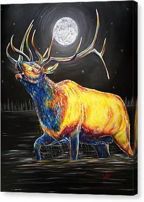 Moon Bugle Canvas Print by Teshia Art
