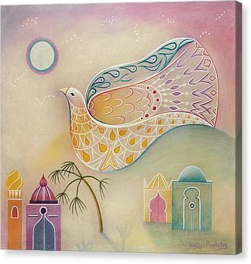 Moon Dove Canvas Print by Sally Appleby