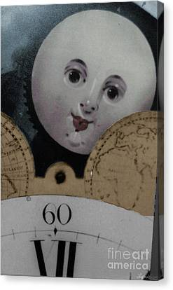 Moon Face Canvas Print by Lyric Lucas