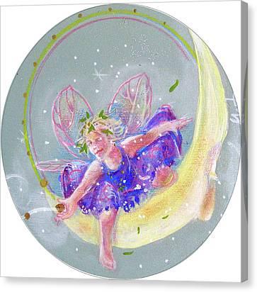 Moon Fairy Canvas Print by Gertrude Palmer