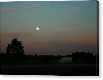 Canvas Print featuring the photograph Moon Glow by Ellen O'Reilly