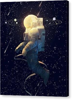Moon Guy Canvas Print by Oscar Lopez