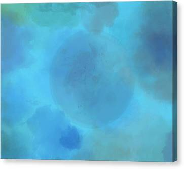 Moon In Clouds Canvas Print