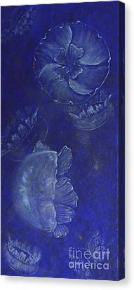 Moon Jellies Canvas Print by Mary Deal