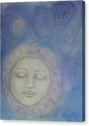 The Moon Canvas Print by Jennie Hallbrown