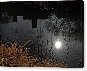 Canvas Print featuring the photograph Moon Lake by Larry Bishop