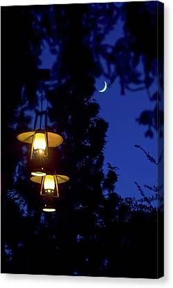 Canvas Print featuring the photograph Moon Lanterns by Mark Andrew Thomas
