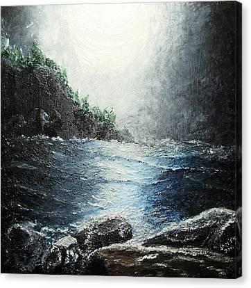 Moon Light On The Ocean Canvas Print