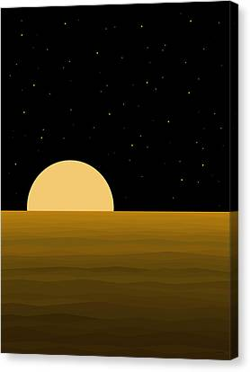 Abstract Seascape Canvas Print - Moon Light by Val Arie