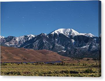 Moon Lit Colorado Great Sand Dunes Starry Night  Canvas Print by James BO Insogna