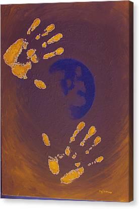 Moon Man Canvas Print by Michael DeMusz