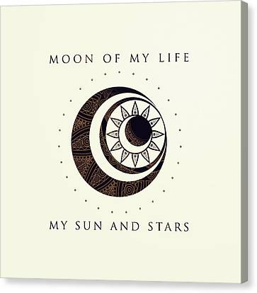 Moon Of My Life... My Sun And Stars Canvas Print by Rose's Creation