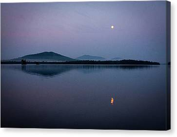 Moon Over Burnt Jacket Mountain Canvas Print
