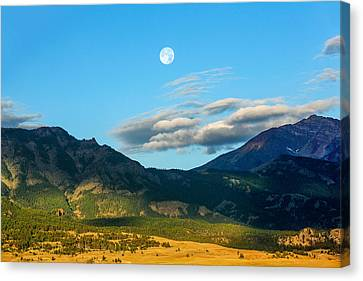 Moon Over Electric Mountain Canvas Print by Todd Klassy
