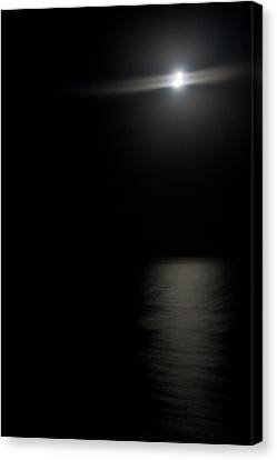 Moon Over Gulf Of Mexico Canvas Print by Gwen Vann-Horn