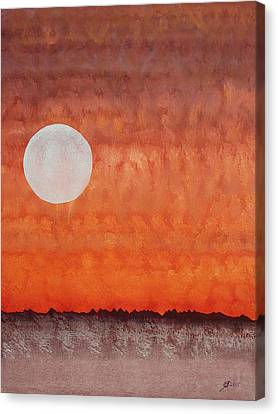 Moon Over Mojave Canvas Print