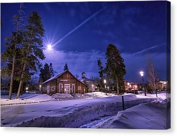 Wilderness Canvas Print - Moon Over Museum by Michael J Bauer