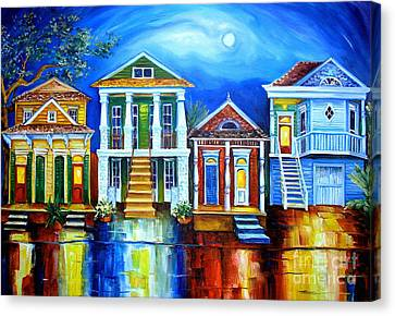 Moon Over New Orleans Canvas Print