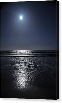 Moon Over Ocracoke Canvas Print by Jeff Moose