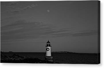 Moon Over Winter Island  Canvas Print by Christian Ryan