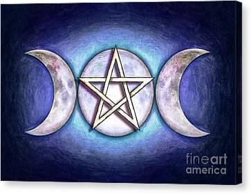 Moon Pentagram - Tripple Moon 1 Canvas Print by Dirk Czarnota