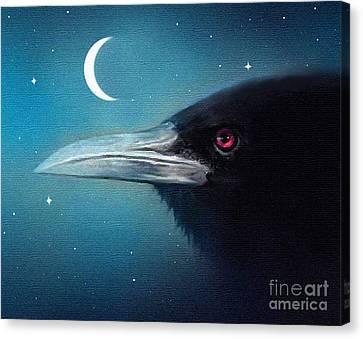 Starlight Canvas Print - Moon Raven by Robert Foster