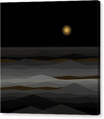Moon Rise Abstract II Canvas Print by Val Arie