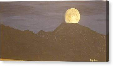 Canvas Print featuring the painting Moon Rising by Betty-Anne McDonald