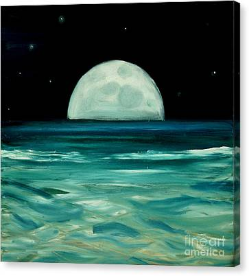 Moon Rising Canvas Print by Caroline Peacock