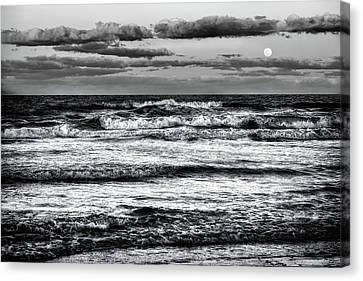 Canvas Print featuring the photograph Moon Rising  by Louis Ferreira