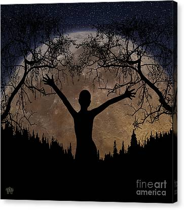Moon Rising Canvas Print by Peter Piatt