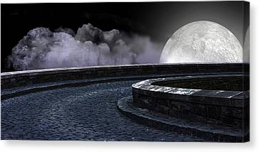 Moon Road 2 Canvas Print by Evelyn Patrick