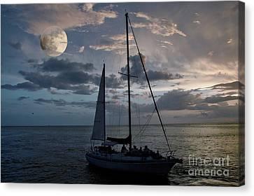 Moon Sail Canvas Print by Digartz - Thom Williams