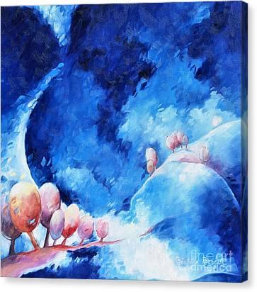 Moon Walk Canvas Print by Beatrice BEDEUR
