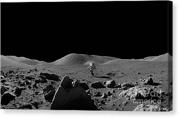 Moon Walk Canvas Print by Jon Neidert