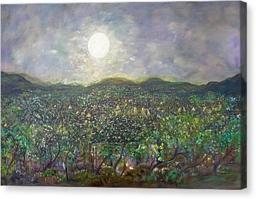Luminous Body Canvas Print - Moon Watch by Sara Credito