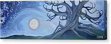 Moon Watcher Canvas Print by Cedar Lee