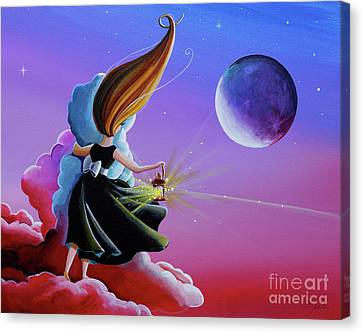 Moon Whisperer Canvas Print by Cindy Thornton