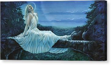Moonbeams Canvas Print by Wayne Pruse