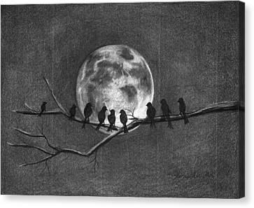 Moonbirds Canvas Print
