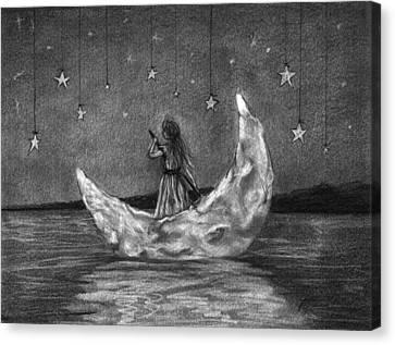 Moonboat Canvas Print