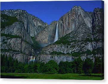 Moonbow Yosemite Falls Canvas Print