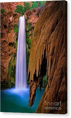 Azure Canvas Print - Mooney Falls by Inge Johnsson